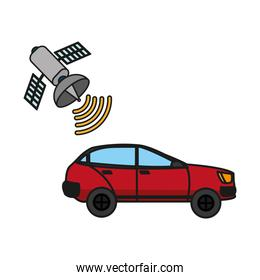 car tranport with satellite wifi connection