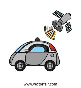 police car with satellite wifi connection