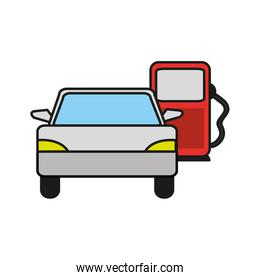 vehicle transport in the gas station fuel
