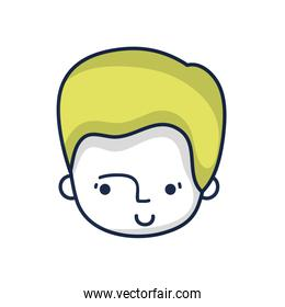 avatar man head with hairstyle design