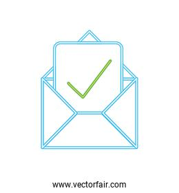neon line e-mail letter message with good information