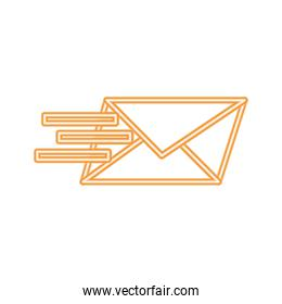 neon line text e-mail message style sign