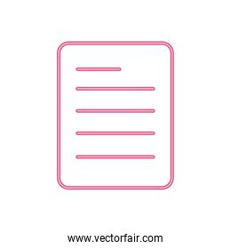 neon line business office paper document information
