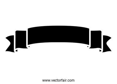 silhouette ribbon object to decoration holiday celebration
