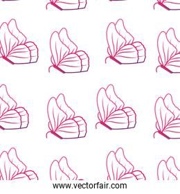 neon line cute butterfly nature animal style background
