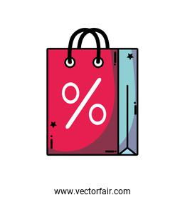shopping bag object with market percent