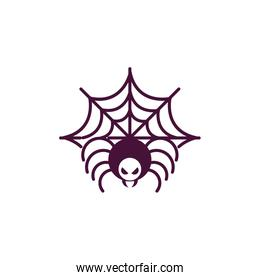 spider cobweb trick or treat happy halloween
