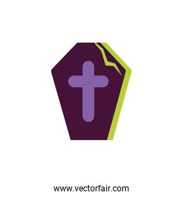 coffin with cross trick or treat happy halloween