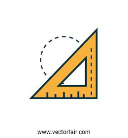 triangle ruler work tools engineering icon