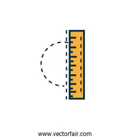 ruler measure work tools engineering icon