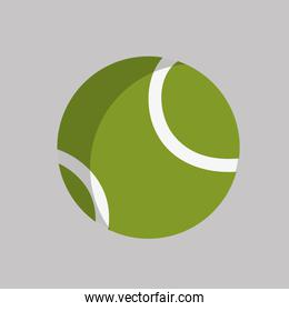 tennis ball object to play sport