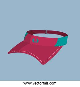 tennis cap object to play sport