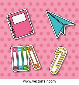 set school tools education patches stickerts