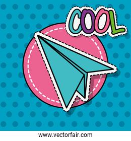 paper plane patch sticker decoration