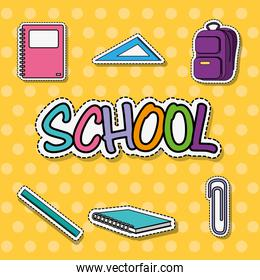 education school tool patches sticker