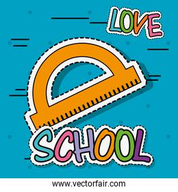 mensure ruler education school tool patch sticker