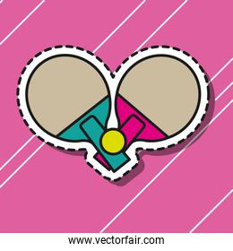 tennis table rackets sport patch