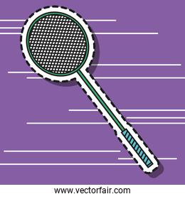 badminton racket element to play patch design
