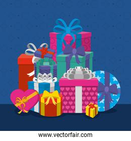 Gifts with bows design