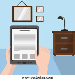 Reading with tablet design