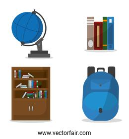 School icon set design