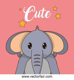 Elephant cartoon design
