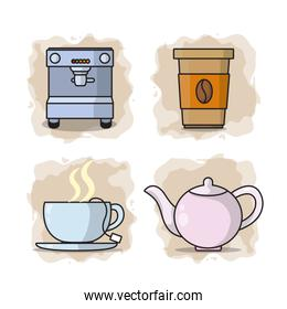 Coffee collection cartoons