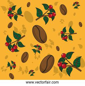 Coffee patterns background
