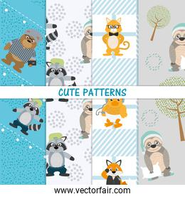 Cute animals patterns