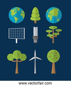 Green energy and world collection