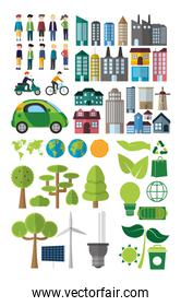 Green energy and city collection