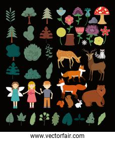 Nature, forest and kids collection