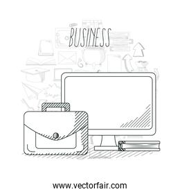Hand draw business concept