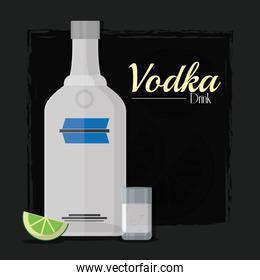Vodka alcohol drink