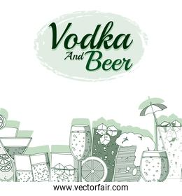 Vodka and beer concept