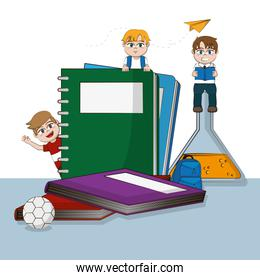 Students and school