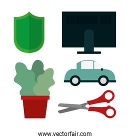 Set of office icons