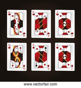 Set of leisure cards