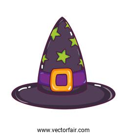 witch hat with stars and ribbon style