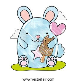 grated cute mouse and kawaii cat ice lolly