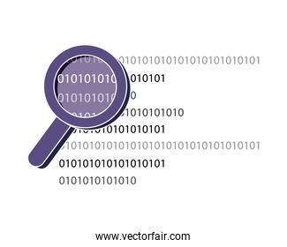 magnifying glass programming code technology