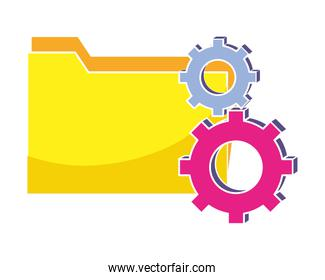 folder file and industry gears process