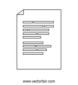 outline document with program data code technology