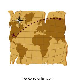 old global map to america estination