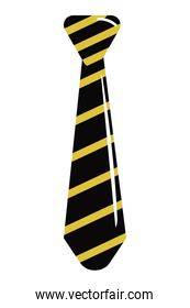 Tie striped isolated