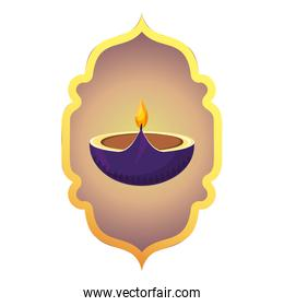 indian candle decoration