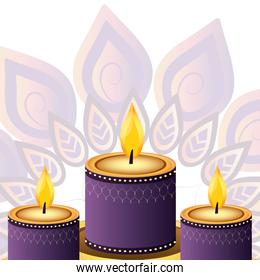 indian candles decoration