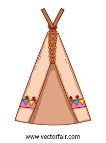 indian tent drawing