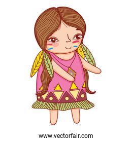 Indian giel cute drawing