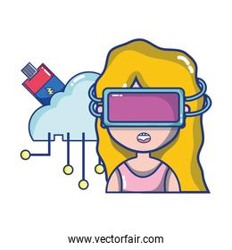 FPV goggles technology cartoons